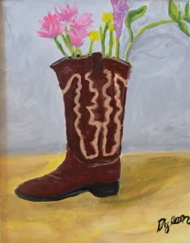 Flowered Boot