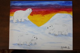 Polar Bear Sunset